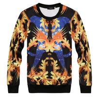 2014 A/W fashion 3d phoenix flower fashion o-neck mens sweatshirt