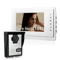 Sale 7 inch LCD Home Security Video door phone intercom kit Waterproof cover IR Camera