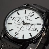 Fashion Design Genuine Dalas White Dial Analog Black Silicon Band  Men Outdoor Quartz Sports Wrist  Watch / WAA751
