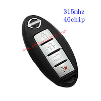 Free shipping 10pcs/lot new 4 buttons smart key with 315mhz and 46chip