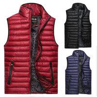 2014 New Men's Down Cotton-padded Vest Coats Autumn Winter Man Casual Cotton Wasitcoat Mans Warm Sleeveless Outerwear & Jackets