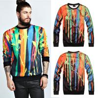 2014 hiphop style  fashion ruslana korshunova Camouflage print mens  pullover sweatshirt