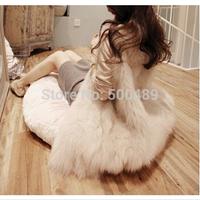 2014 Autumn Winter Faux Fur Vest Colete De Pele Falso Winter Jacket Casacos Femininos Womens Coat Plus Size Free Shipping pc-015