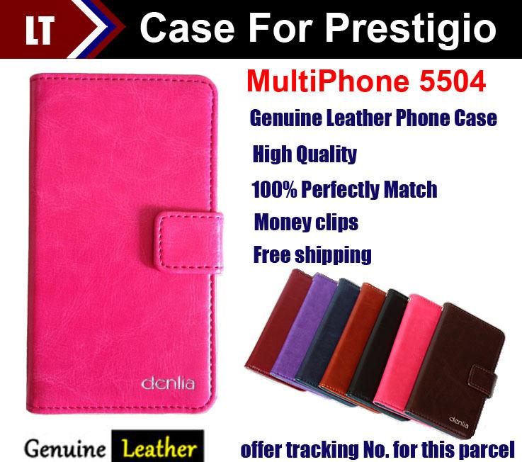 2014 top quality flip genuine leather case cover for prestigio