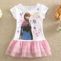 Free Shipping 2014 Hot Selling New baby Girls Frozen Dress princess Anna cute Dress Fashion vestido infantil kids dress BC065