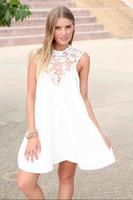 2014 Fashion Lace Dress Chiffon Sleeveless Dresses Women Sexy Mini Embroidery Summer Womens Club Vestidos Verao De Festa QZ047