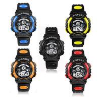 Scolour Waterproof Children Boy Digital LED Quartz Alarm Date Sports Wrist Watch Freeshipping & wholesale