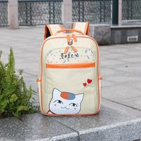Free Shipping natshme yuujinchou PU rose Backpack Khaki anime student school bag laptop shoulder bag