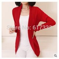 2014 new fashion women knitted sweater cardigan outerwear shawl long sleeve jacket knitwear coats Free shipping