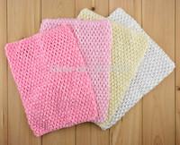 Hot Sale Baby Crochet Headbands Hairbands Kids 9 Inch Multi Color Waffle String Tutu Tube Toddler Elastic Halter Tops  20pcs/lot