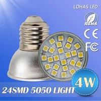 12PCS high brightness led spotlights 220V 230V 240V ac lamps 50505leds/3528leds 4w/5w/6w/8w E27/E26 led downliht