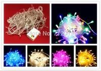 10m LED String light 100leds AC220-240V (EU) /AC110-140V(US) Multicolor for christmas party wedding Fairy Light