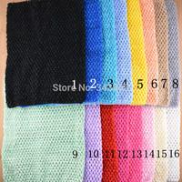 "2014 New 12"" Crochet Elastic Headbands Hairbands Girls 24x32cm  Multi Color Waffle String Tutu Tube Children Halter Tops  20pcs"