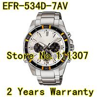 EFR-534D-7AV New EFR 534D 7AV Chronograph Multiple Time Men's White Dial Watch EFR534D-7