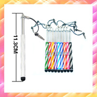 1000pcs Wholesale 10 colors New Wind Chimes Retractable Stylus Touch Pen For iPhone/iPad/Samsung Phone/Tablet,Good quality,DHL