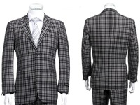 Stylish Male Suits Plaid Designer Casual Suits High Quality Business Suits Daily Work Suits With Pants New 2014