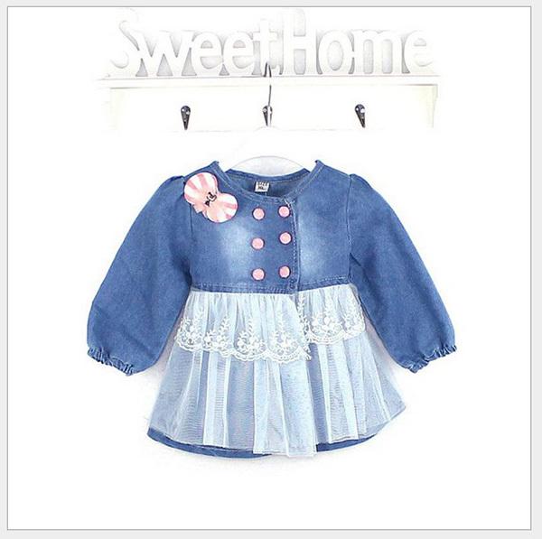 nova marca 2014 outono crianças outerwear crianças denim toddler casaco jaqueta meninas infantil casaco de bebê casual jaqueta jeans desigual(China (Mainland))