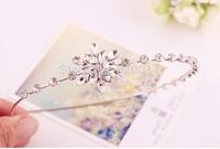 Wholesale !!! 1pcs/lot  Free shipping High-grade Sweet and elegant snowflake diamond flower hair bands