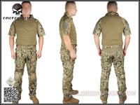 Airsoft EMERSON Navy Seals Combat Set Summer Edition Knee Pad short sleeve AOR2 Woodland Marpat EM6902