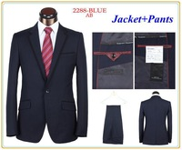Top Sale Men Fashion Business Suit Blue/Grey Formal Suit For Wedding Dress Tuxedo New 2014