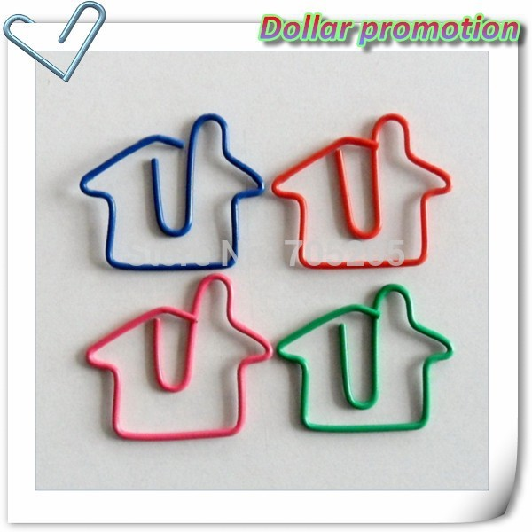 Free shipping !200pcs/lot ,Creative lovely modelling paper clip art house life paper clips clip(China (Mainland))