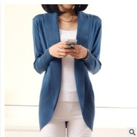 LOWEST PRICE! 2014 spring autumn winter fashion Women long sleeve Knitted Sweater Cardigans outerwear shawl knitwear