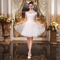 New wedding dress Phoenix luxury trailing gown Fishtail short  paragraph dress HS031