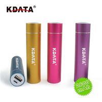 KDATA Gadget cylider 2600mAh power bank LED Light battery chager rechargeable portable Factory price