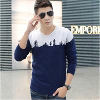 Hot ! 2014 Hitz , Popular Men's Fashion Round Neck Sweater Men's Sweater Coat Korean Slim , Free Shipping