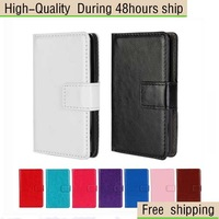 High Quality Crazy Horse Flip Leather Wallet Case Cover For LG Optimus L3 II 2 E430 Free Shipping China Post Air Mail