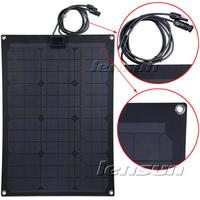 UK STOCK! 30W 12V Fiberglass Monocrystal Semi-flexible Solar Panel, Wholesale,Factory Directly