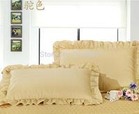 Free Shipping!! New Arrival Excellent 100% Cotton Material Camel Color Zipper Style  Pillowcase , 48cm*74cm Size, 2 pcs / lot