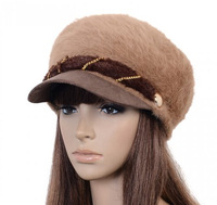 Cute rabbit fur hat female winter wool hat knitted hat fashion hat winter days, Ms.