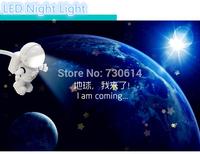 LED Portable Laptop Computer Keyboard USB LED Lamp New Arrvial USB Astronaut Light / Cute Astronaut PC Lamp LED Night Light