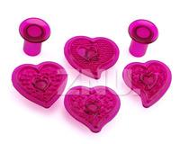 Love Heart Flower Cutter Cake Fondant Decorating Sugarcraft Cookie Cutters Mold