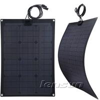 Fiberglass 30W 12V Monocrystal Semi-flexible Solar Panel, Wholesale,Factory Directly,UK STOCK!
