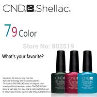 Free shipping Beauty Nail Set With Base Coat & Top Coat 6pcs/lot CND Nail Art Led Gel Polish Shellac