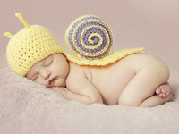 New 2014 Snail Toddler Boy Girl  Beanies Costume Animal Hats Caps Photo Photography Props Knit Crochet caps
