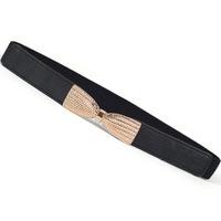 2014 Autum Brief Women Elatics Decoration Waistbands Classical Bow Cummerbunds High Stretch Female Belts Wholesale