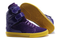 New Arrival Super TK Society Purple Yellow Suede Patent Lakers Shoes Cheap Sale Women Fur Skate Shoes Casual Flats Autumn Boots