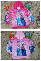 Freeshipping 2014 Hot And New Frozen Elsa & Anna coat For children's gift No 800
