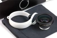 Universal Lens 180 Degree Detachable Circle Clip Fish eye Fisheye Lens Camera For Iphone 4 5 Samsung S3 S4