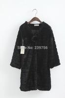 Fashion Woman Long Fur Coat Shipping Free