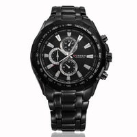 HOT !!! CURREN Casual Cool Business Men WristWatches,Brand Black Dial Stainless Steel Waterproof Men 's Watch,Free Shipping