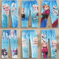 Children's Frozen Printing Leggings Girls pants Pencil Pant Trousers 4-9years Baby Kids pants girl elsa anna princess leggings