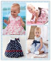 Retail wholesale baby dress/soft and cute bowknot princess dress baby girl/sleeveless cool summer/Free shipping Honey Baby