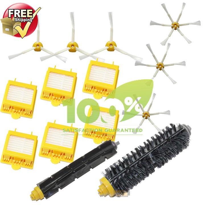 HEPA Filter,Side Brush,Bristle & Flexible Beater Brush for iRobot Roomba 700 770 780 790 Cleaner Brush Filter(China (Mainland))