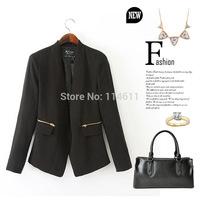 NewEuropean and American fashion women autumn suit jacket women jackets and coats black coat womens coats 2014 coat female woman