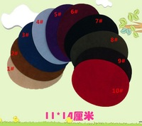 14*11cm Sleeve stick wholesale Knee post flocking material buiter oval elbow patch cut at random