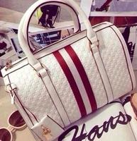 2015 new European and American big hit color stitching Boston drums pillow pack portable shoulder bag diagonal handbags